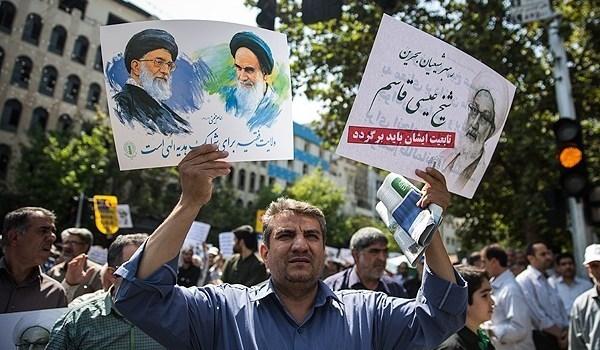 مسيرات احتجاجية حاشدة في ايران تندد بجرائم آل سعود وآل خليفة