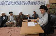 سماحة السيد كمال الحيدري (دام ظله) يستقبل وفداً من حوزة الإمام الجواد (عليه السلام) للعلوم الدينية في مكتبه بمدينة قم المقدسة