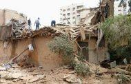 صور من الأضرار الناجمة عن سقوط القذيفة التي أطلقتها المجموعات الإرهابية على حي الميدان بدمشق