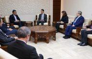 الرئيس الأسد لـ جابري أنصاري: العدوان الثلاثي على سورية لن ينجح في وقف الحرب على الإرهاب