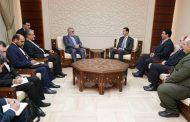 الرئيس الأسد لبروجردي: تصعيد العدوان على سورية لن يزيد السوريين إلا تصميما على القضاء على الإرهاب بمختلف أشكاله