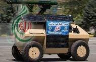 الجيش الإيراني يدشن 3 منجزات منها عربة روبوت مسلحة