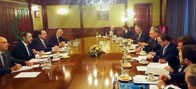 الوزير منصور عزام يبحث مع بوريسوف العلاقات الثنائية بين سورية وروسيا وسبل تعزيزها