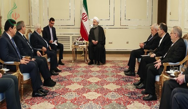 الرئيس الايراني حسن روحاني : استقرار سوريا وأمنها التام هو من أهداف ايران الاقليمية
