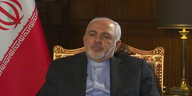الوزير محمد جواد ظريف : ضرورة عودة جميع الأراضي السورية إلى سيادة الدولة السورية