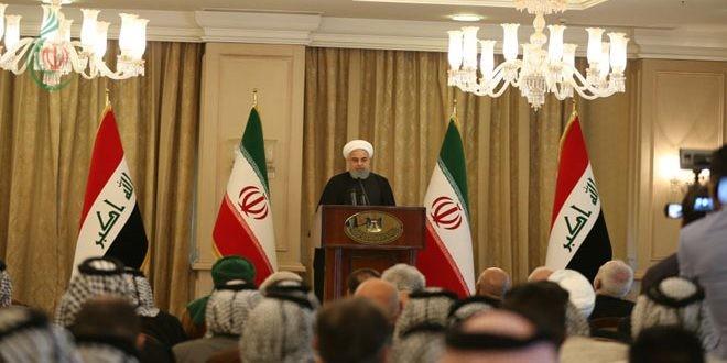 روحاني : الولايات المتحدة والغرب لم يؤديا أي دور في دحر الإرهاب