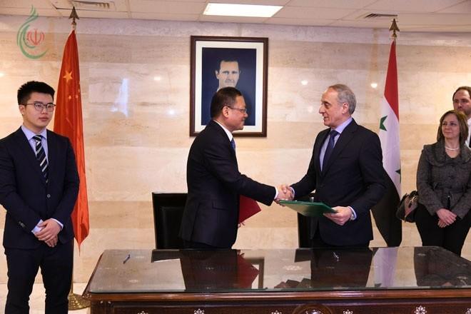 800 مليون يوان .. منحة صينية لسورية تسلمتها وزارة الخارجية والمغتربين