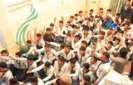 سماحة المرجع النجفي خلال استقباله وفداً من مدينة بغداد : عليكم ببر أمهاتكم لأَنهن مؤمنات وأنشئن مجتمعاً موالياً لأَهل البيت (ع)