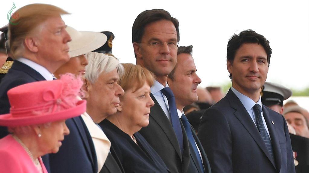 ترامب و الملكة و قادة العالم يحيون ذكرى إنزال النورماندي