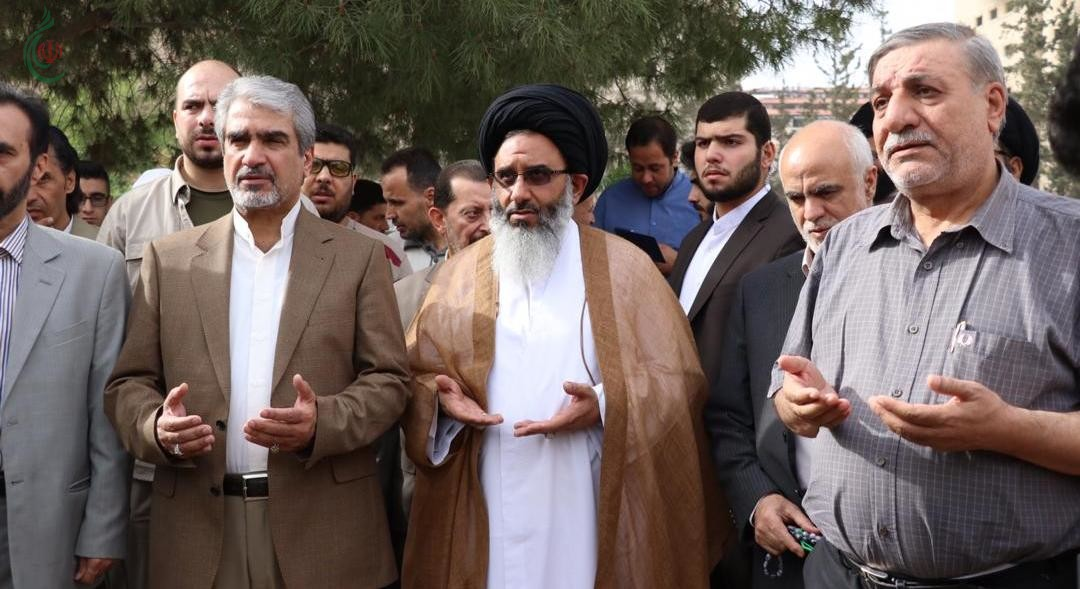 السفير الإيراني جواد تركآبادي وممثل القائد الخامنئي في سورية يزوران مقبرة الشهداء في السيدة زينب عليها السلام