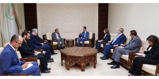 الرئيس الأسد يستقبل أصغر خاجي واللقاء يتناول المراحل التي قطعتها الحرب على الإرهاب في سورية