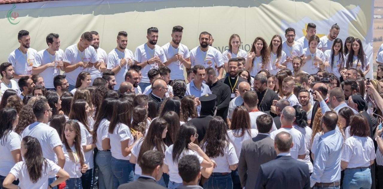 الرئيس بشار الأسد للشباب السوري السرياني الكاثوليكي : المسيحيون لم يكونوا يوماً طارئين في هذه الأرض بل كانوا ومازالوا بناة حضارتها إلى جانب إخوانهم المسلمين