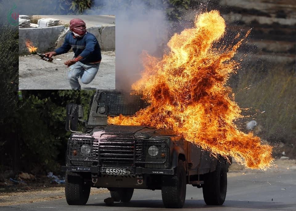 المقاومة الشبابية الفلسطينيينة تحرق ثلاث سيارات عسكرية اليوم قرب القدس