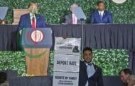 نائب أميركي من أصل فلسطيني يقاطع ترامب أثناء إلقائه كلمة في فرجينيا