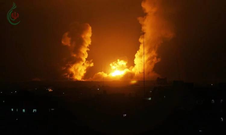 جيش الاحتلال الصهيوني يقصف مواقع لحماس فى غزة