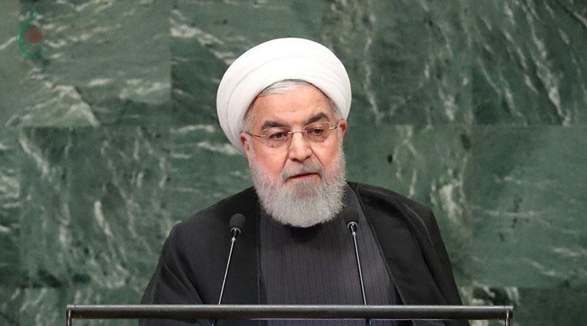الرئيس حسن روحاني : لا مفاوضات مع الحظر والاملاءات الصهيو-امريكية ستفشل