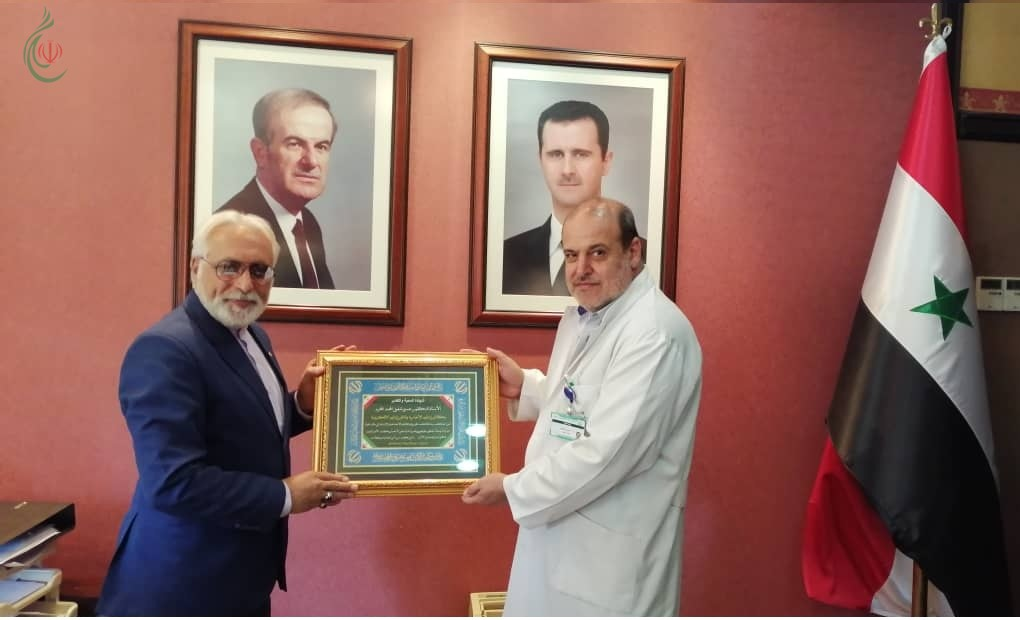 وكالة إيران اليوم الإخبارية تكرم الأستاذ الدكتور حسين شفيق المحمد المدير العام لمشفى الأسد الجامعي بدمشق