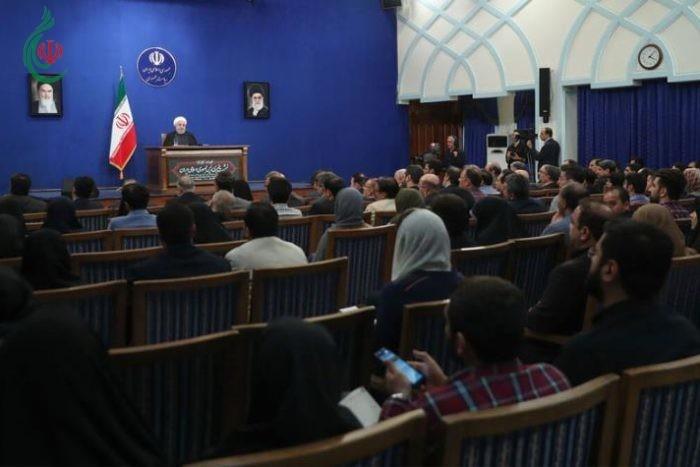 الرئيس روحاني : جهتان عملتا على الانسحاب الامريكي من الاتفاق النووي