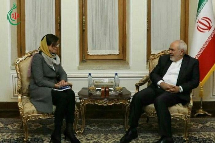 ظريف يستقبل نائبة وزيرة الخارجية السويدية