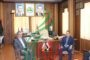 لقاء سعادة السفير الإيراني جواد تركآبادي حفظه الله للدكتور لؤي صيوح أمين فرع جامعة تشرين لحزب البعث