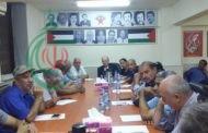 فهد سليمان نائب الأمين العام للجبهة الديمقراطية لتحرير فلسطين يلتقي اللجنة الأهلية لمخيم اليرموك
