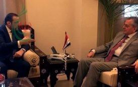 خلال لقائه السفير عبد الكريم  رئيس حزب الوفاق الوطني : التعاون مع سورية مصلحة لبنانية