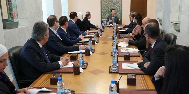 الرئيس الأسد يترأس اجتماعاً حول مراحل تطبيق المشروع الوطني للإصلاح الإداري وما تم إنجازه على هذا الصعيد