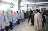ممثل القائد الخامنئي (دام ظله) في سورية يزور عدداً من مشافي السيدة زينب عليها السلام