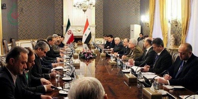 مباحثات سورية إيرانية لتعزيز العلاقات الثنائية والتعاون المشترك