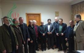 الدكتور سيد رضي الواحدي رئيس لجنة الجالية الإيرانية المقيمة في دمشق يلتقي بالسيد أخوان مدير منظمة الحج والزيارة للعتبات المقدسة