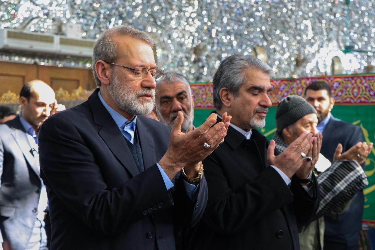 لاريجاني يزور مقام السيدة زينب عليها السلام و يلتقي ممثل القائد الخامنئي
