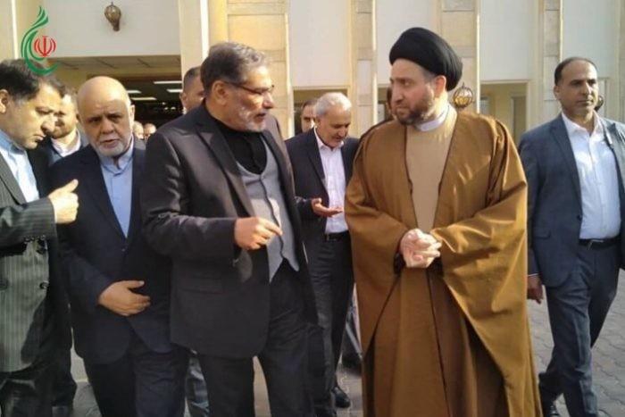 شمخانی یلتقی السید عمار الحکیم وبعض قادة التیارات السیاسیة العراقیة