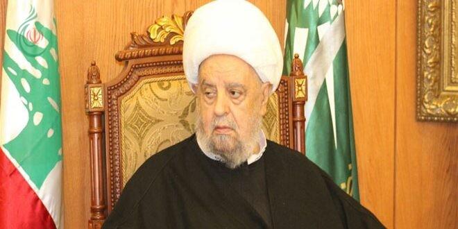 رئيس المجلس الإسلامي الشيعي الأعلى الشيخ عبد الأمير قبلان : ضرورة التنسيق وتفعيل الاتفاقيات المشتركة بين سورية ولبنان