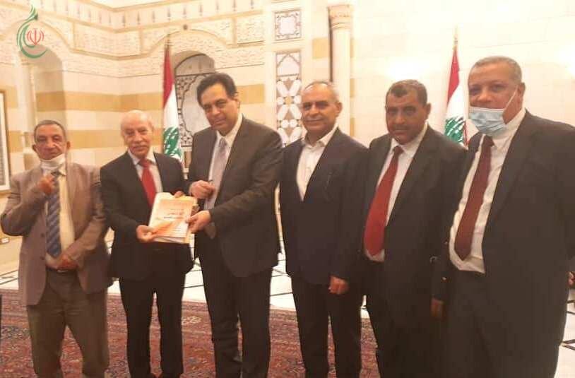 رئيس الحكومة حسان ذياب يلتقي وفد الجبهة الديمقراطية لتحرير فلسطين ويبحث معه أوضاع اللاجئين الفلسطينيين في لبنان
