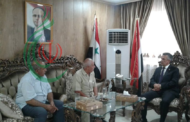 السفير اليمني في سورية ورئيس وأعضاء اللجنة الشعبية الفلسطينية المناهضة للعدوان على سورية والمقاومة
