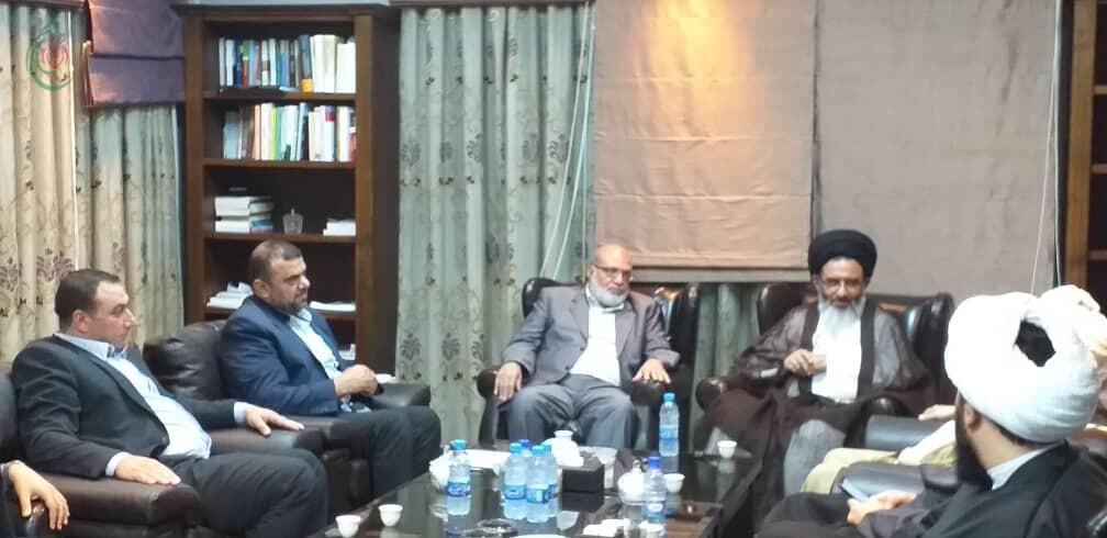 السيد الطباطبائي يدعو حركة الجهاد الإسلامي والفصائل الفلسطينية إلى الاستمرار في نهج المقاومة حتى تحرير كامل فلسطين
