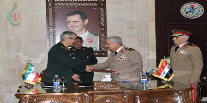 سورية وإيران توقعان اتفاقية عسكرية شاملة لتعزيز التعاون العسكري والأمني في شتى مجالات عمل القوات المسلحة