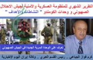 التقرير الشهري للمنظومة العسكرية الأمنيةلجيش الاحتلال الصهيوني و وحدات الكومندو