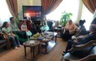 القائم بأعمال السفارة العراقية في سورية السيدة نيران هاشم شاكر تلتقي الفتاة زهرة علي منعثر ومجموعة من أطفال دار الرحمة للأيتام