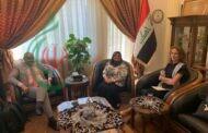 السيدة نيران هاشم شاكر القائم بأعمال السفارة العراقية بدمشق تبحث مع بعثة الاتحاد الأوربي أزمة اللاجئين وتأثير جائحة كورونا على سورية