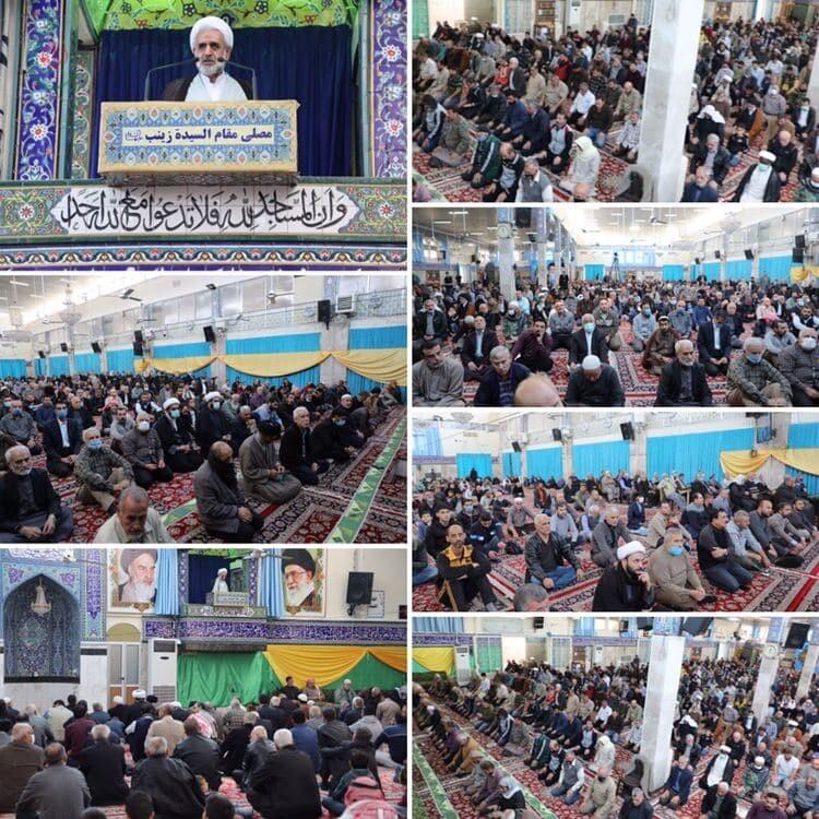 ممثل الإمام الخامنئي في سورية سماحة الشيخ الهرندي في خطبة الجمعة