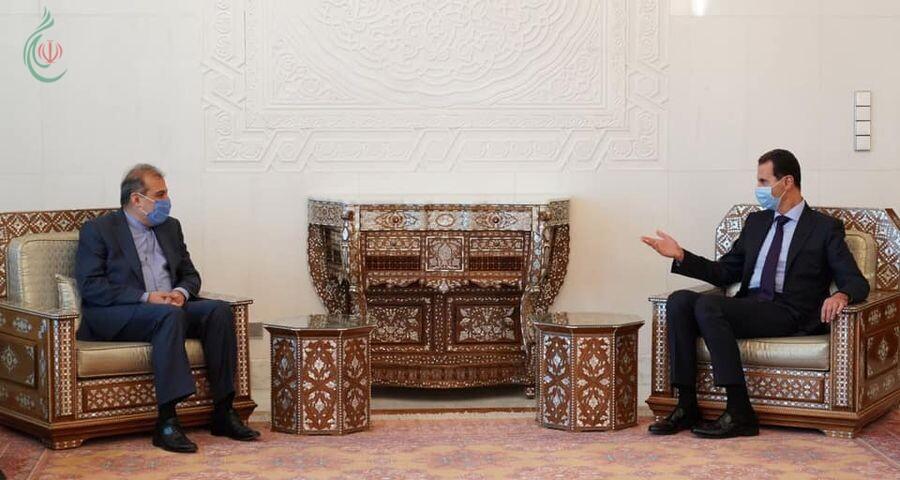 الرئيس الأسد يستقبل علي أصغر خاجي ويطلع على رؤية إيران حول إنعقاد المؤتمر الدولي لعودة اللاجئين السوريين بدمشق