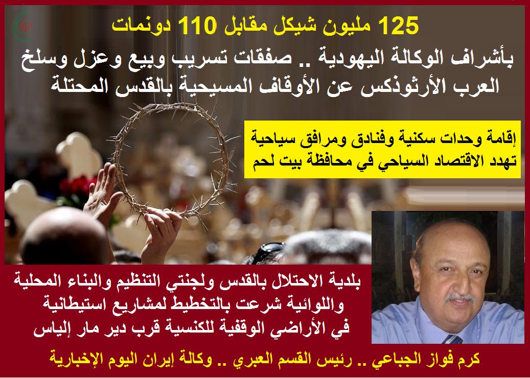 110 دونمات مقابل 125 مليون شيكل