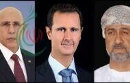 الرئيس بشار الأسد يتلقى برقيتي تهنئة من سلطان عمان والرئيس الموريتاني بمناسبة عيد الجلاء