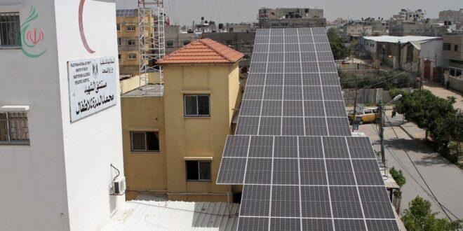 تركيب ألواح طاقة شمسية لمستشفى أطفال في غزة