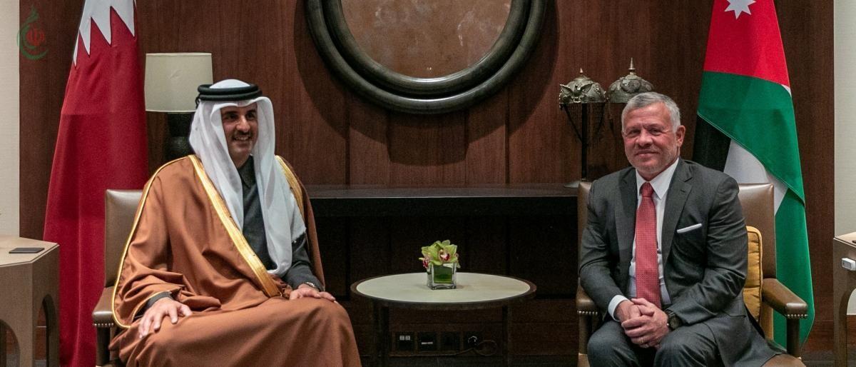 أمير قطر يبعث برسالة إلى ملك الأردن حول سبل تطوير وتعزيز التعاون بين البلدين والمستجدات العربية والإقليمية، و القضية الفلسطينية و الأوضاع في القدس