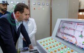 الرئيس الأسد يطّلع على واقع الإنتاج في مدينة عدرا الصناعية ويزور عدداً من المعامل التي نشأت تحت ظروف الحرب والحصار ونجح أصحابها رغم كل التحديات والصعوبات