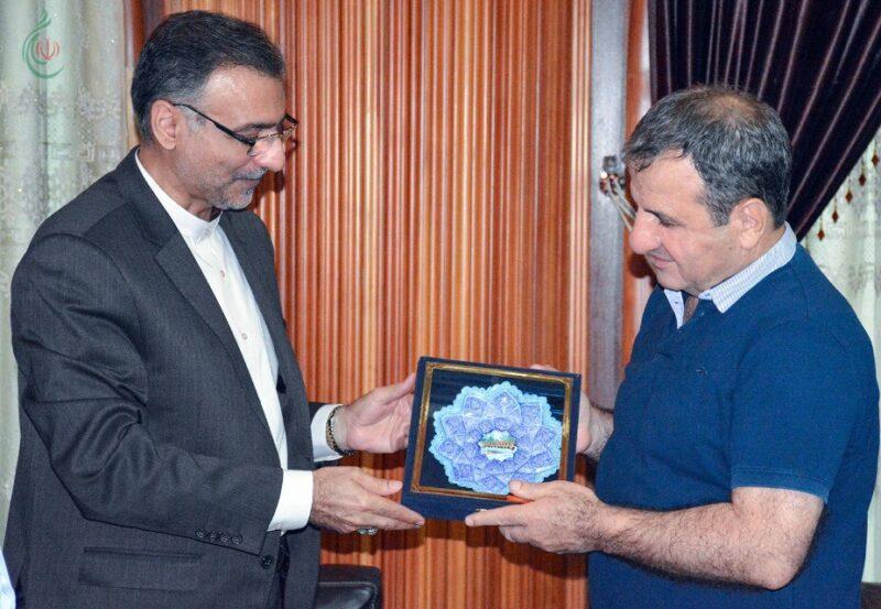 عليرضا فدوي وخضر السالم أكدا خلال اللقاء على ضرورة توسيع فضاءات التعاون الثقافي بين المؤسسات الإيرانية والسورية
