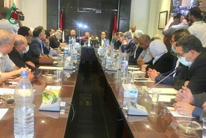 وفد المؤتمر القومي العربي والإسلامي لقيادات وممثلي الفصائل الفلسطينية بدمشق
