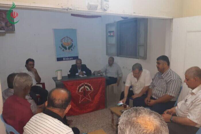 الجبهة الديمقراطية لتحرير فلسطين تلتقي الفصائل الفلسطينية في مخيمي العائدين في حمص واللاذقية والنيرب في حلب
